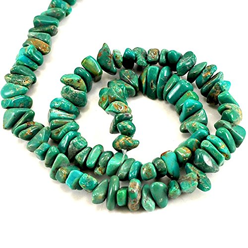 01 Green Hubei Turquoise Nugget 6-10mm for Necklace Gemstone Loose Beads 15
