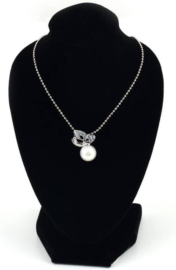 Maniqu/í Negro para Collar Colgante rycnet decoraci/ón Soporte para exhibici/ón Regalo de a/ño joyer/ía