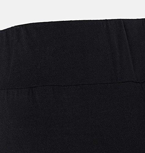 Elegante Fashion Fit Mujer Los Anchos Negro Slim Largos Splice Verano Pantalones Pantalon Palazzo Cómodo De Casuales Golpear Acampanados Trousers Mujeres SqIBZS