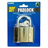 Bulk Buys Metal Padlock with 3 Keys - Pack of 36