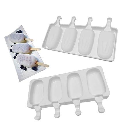 Bandeja de helados para moldes paletas silicona grado alimenticio 10 Cacity Ice