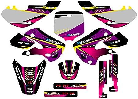 Surge Black Base Senge Graphics Kit Compatible with Kawasaki 2000-2020 KX 65