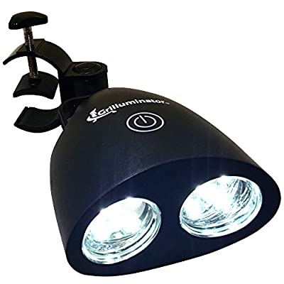 Grill Light for BBQ: The Authentic Grilluminator Is The Best Barbecue Tool & Accessory For Your Barbeque. Ultra Bright Handle Mount LED Illuminates Your Food In All Weather.
