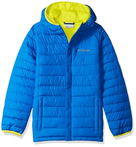 Columbia Boy's Big' Powder Lite Puffer Water-Resistant Insulated Jacket, Super Blue, Zour, X-Large