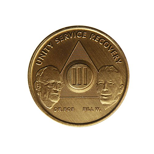 Edition Chips (3 Year Bill & Bob Founders Edition Bronze AA (Alcoholics Anonymous) Birthday - Sober / Sobriety / Anniversary / Recovery / Medallion / Coin / Chip by Generic)