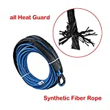 Astra Depot 50' x 1/4 7000lbs BLUE Synthetic Winch Rope Rock Guard Heat Guard For ATV UTV Jeep 4x4 Car Truck Protective Sleeve