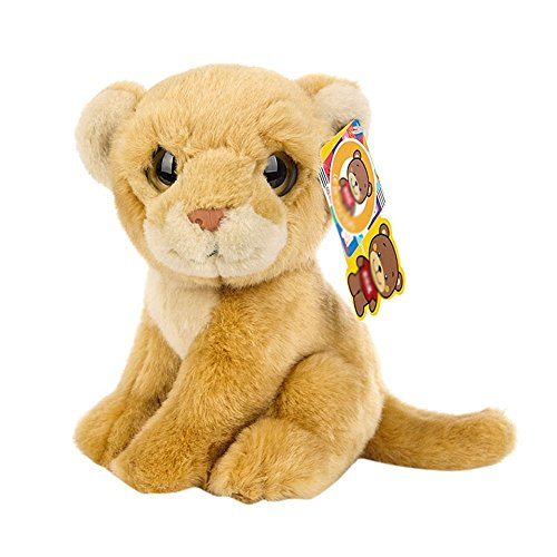[BESTLEE Realistic Baby Lioness Plush Educational Stuffed Animal Toy 8