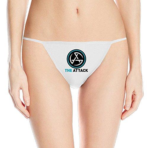 Show Time Women's Attack Logo Sexy Hot T String Panty Bikini White L