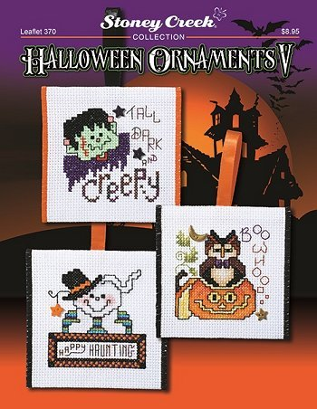 Halloween Ornaments V (Leaflet 370) Cross Stitch Chart and Free Embellishment]()