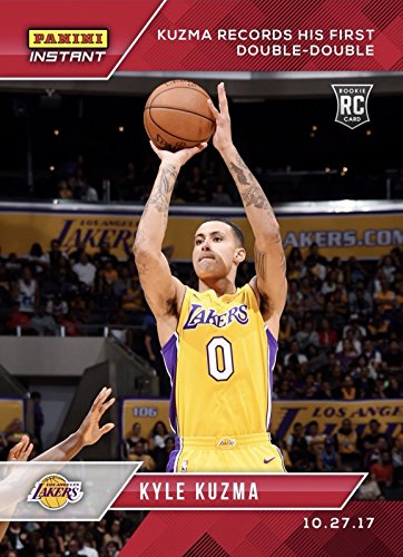 2017-18 Panini Instant NBA Basketball #21 Kyle Kuzma Rookie Card Los Angeles Lakers - Records First Career Triple-Double - Only 221 made!