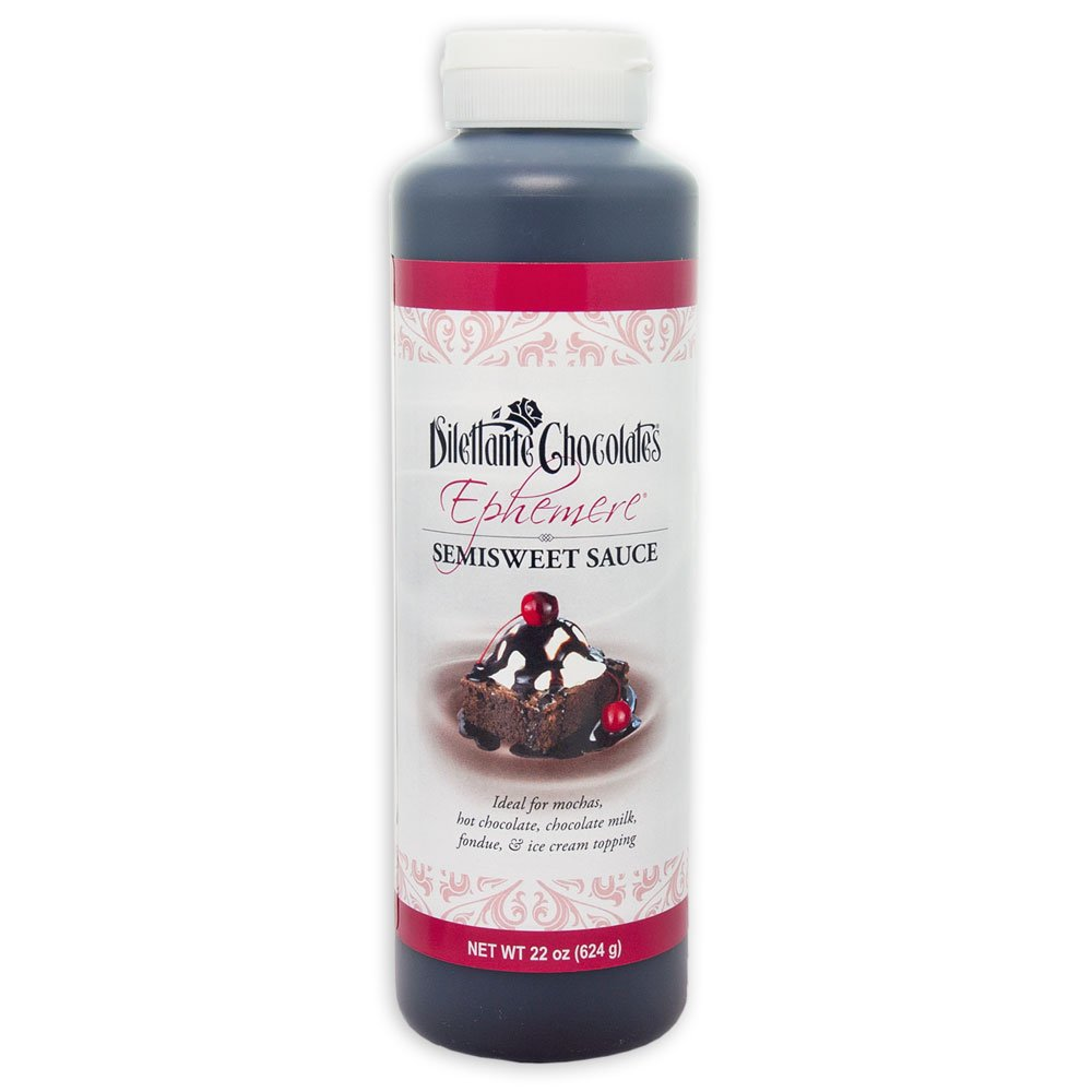 """Semisweet """"Ephemere"""" Chocolate Sauce - All Natural, 22oz - by Dilettante"""