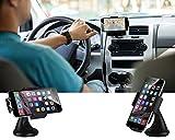 EC Technology Universal Car Mount Holder 360 Degree Rotating for GPS, Smartphones- Black Bild 5