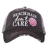 Beach Hair Don't Care SHELL Women's Trucker Hat Cap By Katydid