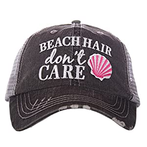KATYDID Beach Hair Don't Care Shell Women's Trucker Hat Cap