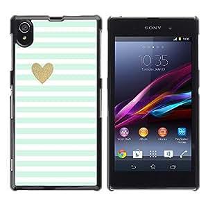 Estuche Cubierta Shell Smartphone estuche protector duro para el teléfono móvil Caso Sony Xperia Z1 L39 C6902 C6903 C6906 C6916 C6943 / CECELL Phone case / / Sheet Heart Minimalist Cl