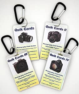 4-Pack Cheatsheets- Pocket sized quick reference cards. Learn to take breath taking photos every time you use your camera. Digital Camera Guide, Photography Manual, Tips for use with Digital or Film SLR cameras. Use with Canon, Nikon, Olympus, Sony, Fuji,