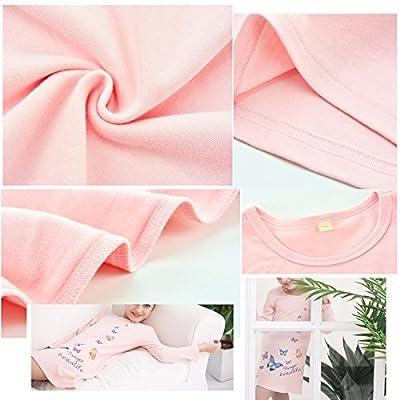 366433eee6 BAIYIXIN Girls Kids Organic Cotton Nightgown Sleepwear Dress Soft ...