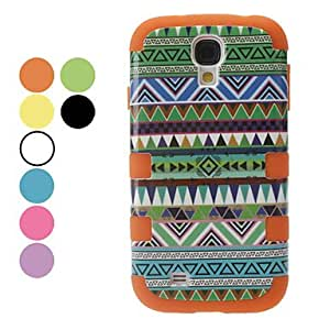 YXF Detachable Green Tones Triangle Pattern Protective Case for Samsung Galaxy S4 I9500 (Assorted Colors) , Blue