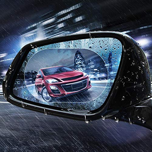 - 2PCS/Set Anti Fog Membrane Car Rear Mirror Sticker Anti-Glare Waterproof Rainproof Window Clear Vision Film Auto Care Oval 10x15cm