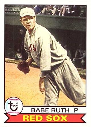 san francisco 13d51 71b05 2016 Topps Archives #101 Babe Ruth Boston Red Sox Baseball Card-MINT