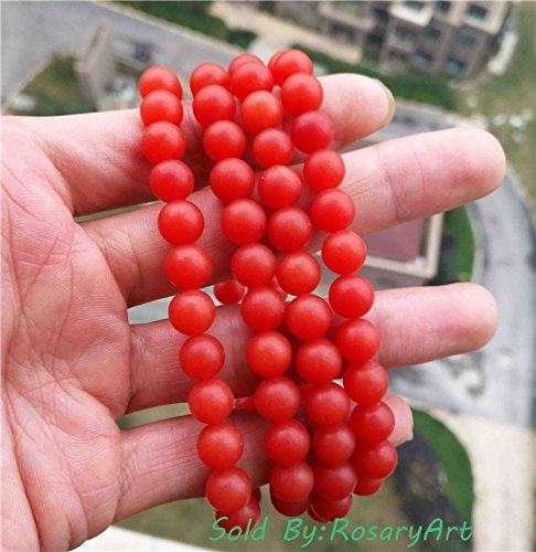(Genuine Tibetan Nanhong Agate Pema Raka Carnelian Red Necklace Bracelet Mala Prayer Beads Rosary Worry Amulet Chinese China Buddhist Old Chain Tibet Misbaha Tasbih Carving Authentic 108PCS)