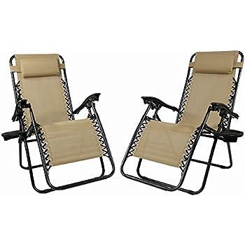 Amazon Com Sunnydaze Outdoor Zero Gravity Lounge Chair