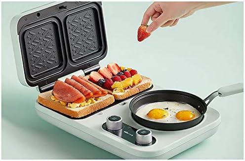 Radiancy Inc Machine à Sandwich légère pour Petit-déjeuner, Petite Machine à Pain multifonctionnelle pour ménage, Grille-Pain chauffé à Pression Quatre-en-Un