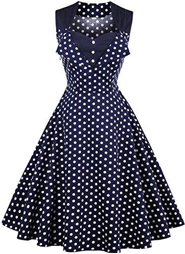 50s blue prom dress - 5