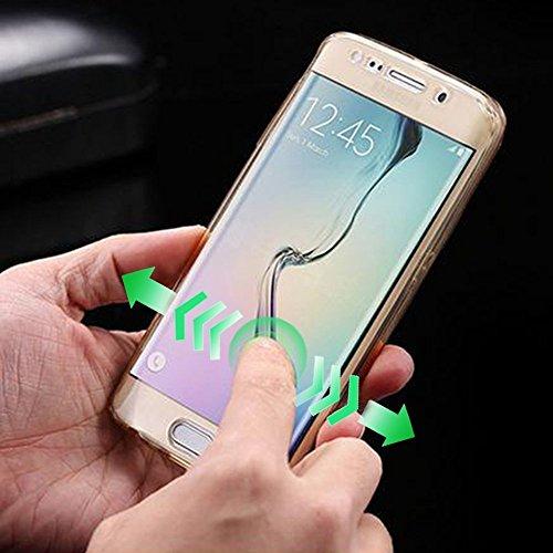 Phone Movil Case Galaxy A5 2017 Transparente Doble TPU Cobertura Funda Samsung A5 (2017) Completo Carcasa 360 Grados Sleeve Suave de Silicona Frontal y Trasero Case Cover Full Body Resistente a los Ar A-04