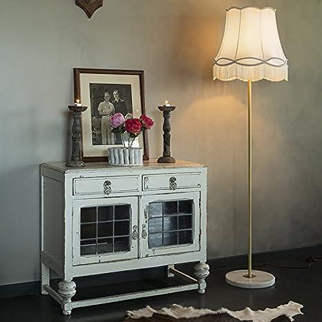QAZQA Retro/Vintage Seda Pantalla de seda crema 45 cm - Granny, Redonda/Cónica Pantalla lámpara colgante,Pantalla lámpara de pie
