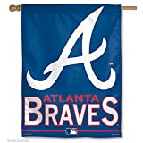 "WinCraft MLB Atlanta Braves 51689915 Vertical Flag, 27"" x 37"", Black"