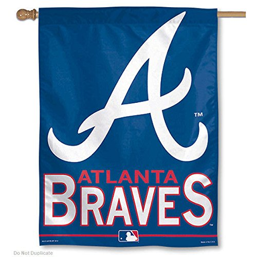 MLB Atlanta Braves 51689915 Vertical Flag, 27