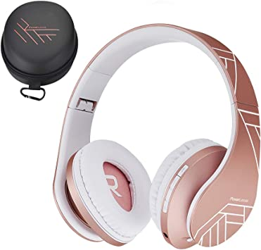 Amazon Com Powerlocus Kids Headphones Over Ear Bluetooth Wireless Headphones For Kids With Microphone Safe 85db Volume Limited Foldable With Carry Case Audio Cable Micro Sd Mode For Online Classes Pc Phones Electronics