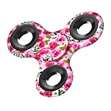 Leegor New Tri-Fidget Hand Spinner Torqbar Fast Rotate Decompression Finger Toy EDC Focus Gyro Stress Reducer For ADD, ADHD, Autism, (Unique Pattern Design O)