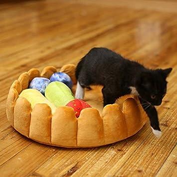 perg Transferencia Divertida de Mascotas Perros de Frutas Tart de Cama de para Mantener cálida Zwinger de Gatos de Dormir de Alfombrillas de Nido de casa: ...