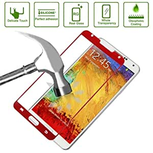 Link Dream 0.33mm Explosion-proof Tempered Glass Film Screen Protector + Mobile Phone Holder for Samsung Galaxy Note III / N9000 (Red)