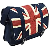 Ben Sherman Men's Union Jack Messenger Bag, Navy