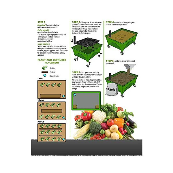 Raised Garden Bed Kit Earth Brown Resin Vegetables Planter Patio Deck Gardening