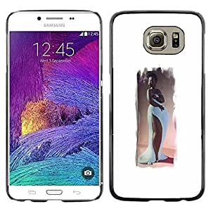 Colorful Printed Hard Protective Back Case Cover Shell Skin for Samsung Galaxy S6 / SM-G920 / SM-G920A / SM-G920T / SM-G920F / SM-G920I ( Hourglass Figure Woman Long Gown Art )