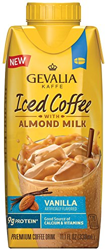Gevalia Flavored Iced Coffee with Almond Milk, Vanilla, 11 Ounce Carton (Pack of 8)
