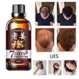 Hair Growth Oil After Shower Ginger Serum Oil Anti Loss Treatment Essence Bin Stops Hair Loss Thinning Balding and Promotes Hair Regrowth Fast Hair Growth Serum Non-Toxic