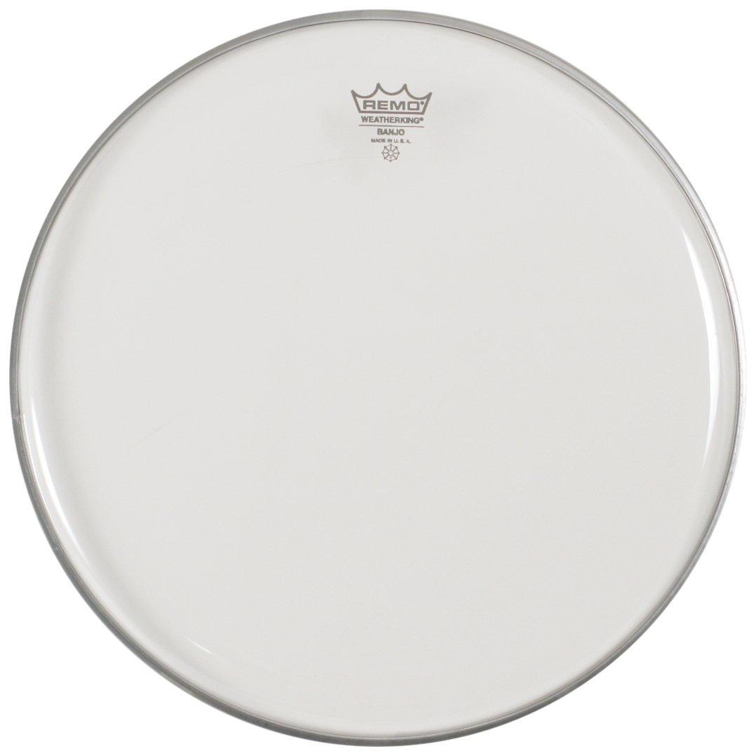 Remo Banjo Head, Clear, 11-inch Diameter, Low Collar