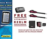Liftmaster LA400PKGU Dual Swing Gate Opener Kit - Free Liftmaster 828LM Internet Gateway & FREE RNT-230SADK Weatherproof Keypad Prox Reader 1000+ Users