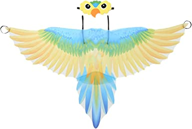 ranrann Disfraz de Loro para Niño Niña Capa de Loro Alas de Pájaro ...