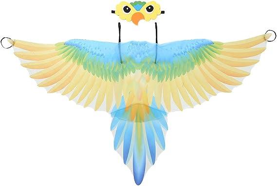 dPois Disfraz de Loro para Niños Ala de Pájaro de Tela Ligera ...