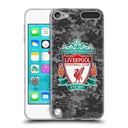 Official Liverpool Football Club Away Colors Crest Digital Camouflage Soft Gel Case for Apple iPod Touch 5G 5th Gen - Ipod Touch 5th Gen Acc