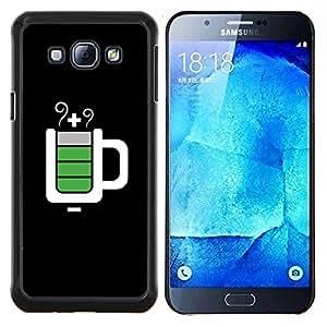 """Pulsar Snap-on Series Teléfono Carcasa Funda Case Caso para Samsung Galaxy A8 ( A8000 ) , Full Service Taza Negro Es"""""""