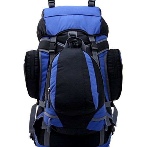 Bolso Del Alpinismo De Xin.S55L Bolso De Hombro Morral Al Aire Libre De La Capacidad Grande Bolso Que Acampa Caminando Recorrido Morral Multi-funcional. Multicolor Blue