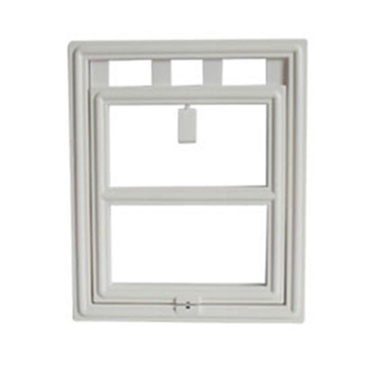 yIFeNG Pet Screen Door Dog Cat Flap With Magnetic Automatic Lock (Small, White)