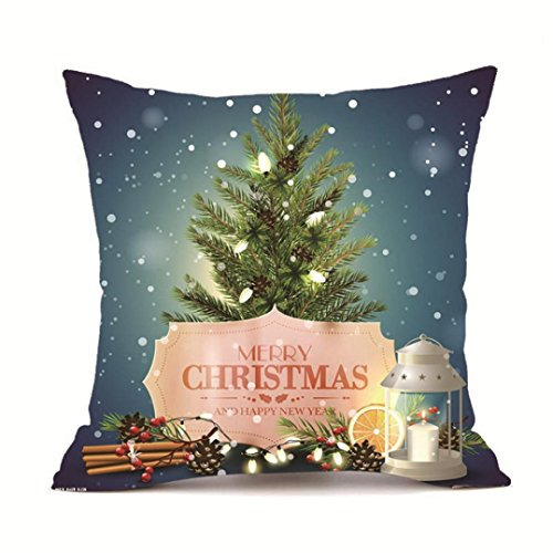 18 Inch Cashmere - Clearance! Goddessvan Merry Christmas Pillow Cases Super Cashmere Sofa Cushion Cover Home Decor 18